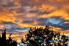 Zonsondergang in San Jacinto Royalty-vrije Stock Afbeeldingen