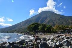 Zonsondergang in San Pedro Laguna Atitlan Lake Guatemala royalty-vrije stock fotografie
