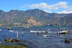 Zonsondergang in San Pedro Laguna Atitlan Lake Guatemala royalty-vrije stock afbeeldingen