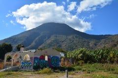 Zonsondergang in San Pedro Laguna Atitlan Lake Guatemala royalty-vrije stock foto's