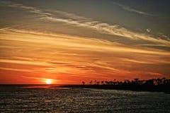Zonsondergang Santa Barbara California stock foto's