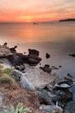 Zonsondergang Sardinige stock afbeeldingen