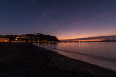 Zonsondergang in Sestri Levante Stock Foto's