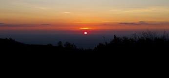 Zonsondergang in Shenandoah Royalty-vrije Stock Foto