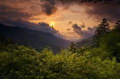 Zonsondergang in Smokies Royalty-vrije Stock Fotografie