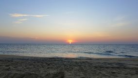 Zonsondergang in Sri Lanka stock foto