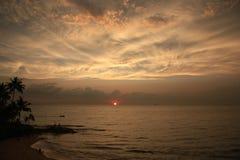 Zonsondergang in Sri Lanka Royalty-vrije Stock Foto's