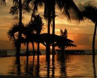 Zonsondergang in St. Maarten 2 Stock Fotografie