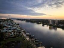 Zonsondergang in Tampa Bay Royalty-vrije Stock Foto