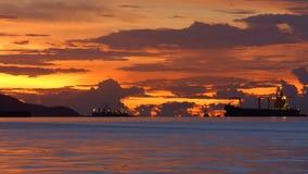 Zonsondergang, Thailand stock foto