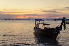 Zonsondergang in Thailand Stock Afbeeldingen
