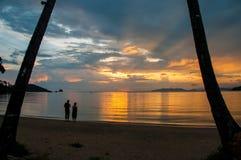 Zonsondergang in Thailand Royalty-vrije Stock Foto's