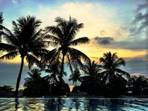 Zonsondergang in Thailand Royalty-vrije Stock Afbeeldingen