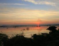 Zonsondergang in Thailand Royalty-vrije Stock Afbeelding