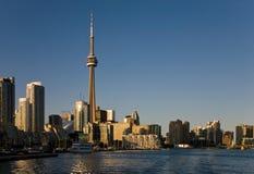 Zonsondergang in Toronto stock foto's