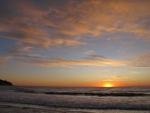 Zonsondergang, Torrance Beach, Los Angeles, Californië Royalty-vrije Stock Afbeeldingen