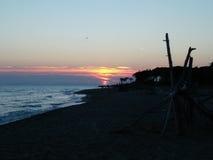 Zonsondergang in Toscanië Stock Foto