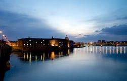 Zonsondergang in Toulouse Stock Afbeeldingen