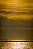 Zonsondergang vóór het onweer Royalty-vrije Stock Afbeelding