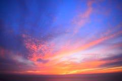 Zonsondergang van Beiroet, Libanon stock foto's
