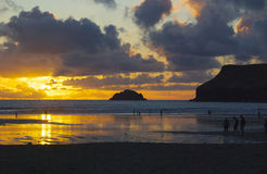 Zonsondergang van Cornwall 2 Royalty-vrije Stock Fotografie