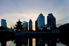 Zonsondergang van de Stad Royalty-vrije Stock Afbeeldingen