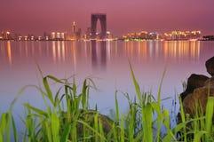 Zonsondergang van de stad van China Royalty-vrije Stock Foto