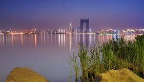 Zonsondergang van de stad van China Stock Afbeelding