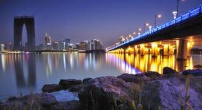 Zonsondergang van de stad van China Royalty-vrije Stock Afbeelding