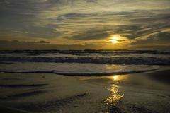 Zonsondergang van de Thyrreense Zee royalty-vrije stock foto's