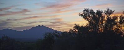 Zonsondergang van Eden stock afbeelding