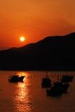 Zonsondergang van een overzees Royalty-vrije Stock Foto