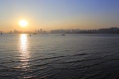 Zonsondergang van haicangbaai Royalty-vrije Stock Fotografie