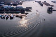 Zonsondergang van Havencabine in landelijk Royalty-vrije Stock Fotografie