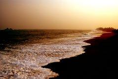 Zonsondergang van het strand Royalty-vrije Stock Foto