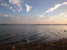 Zonsondergang 2 van het strand Stock Foto