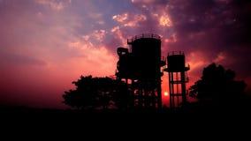 Zonsondergang van India stock foto's