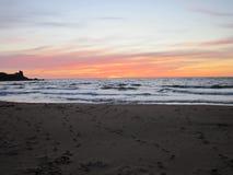 Zonsondergang van Kaap Breton stock afbeeldingen