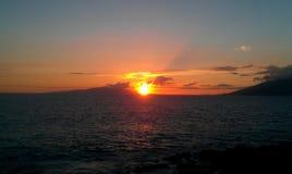 Zonsondergang van Maui Royalty-vrije Stock Foto's