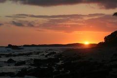 Zonsondergang van oude luchthaven kailua-Kona, Hawaï Royalty-vrije Stock Afbeeldingen