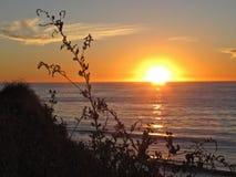 Zonsondergang van Palos Verdes Peninsula, Los Angeles, Californië wordt bekeken dat Stock Afbeeldingen