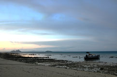Zonsondergang van phi phi eiland Stock Fotografie