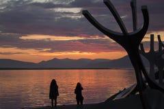 Zonsondergang van Reykjavik Royalty-vrije Stock Fotografie