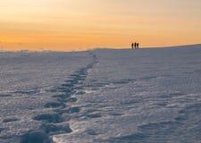 Zonsondergang van sneeuwberg Royalty-vrije Stock Afbeelding
