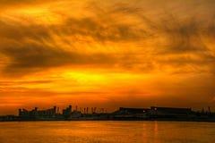 Zonsondergang van Thailand Royalty-vrije Stock Afbeeldingen