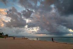 Zonsondergang in Varadero royalty-vrije stock afbeelding