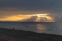 Zonsondergang in Varadero royalty-vrije stock foto