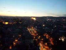 Zonsondergang in Varna Stock Afbeeldingen