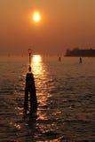 Zonsondergang Venetië Royalty-vrije Stock Fotografie