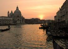 Zonsondergang in Venetië royalty-vrije stock afbeelding